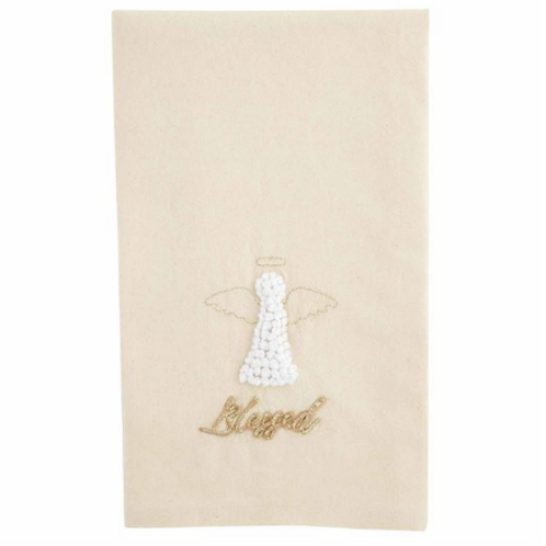 Mudpie GOLD ANGEL HAND TOWEL