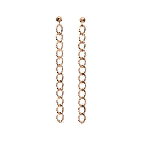 Kenda Kist GOLD Curb Chain Earrings