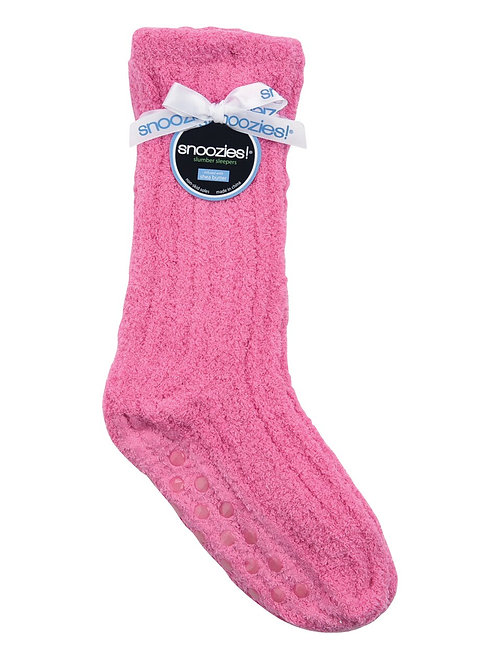 SNOOZIES Shea Butter Socks in BRIGHT PINK