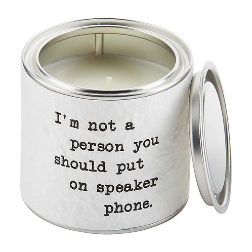 Mud Pie PAINT CAN CANDLE - Speaker Phone