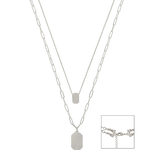 Meghan Browne Style Dock Silver Necklace