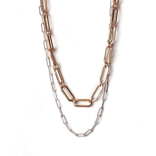 Meghan Browne ELWYN Necklace in GOLD/SILVER