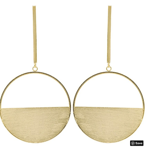 Sheila Fajl Avalon Earring in Brushed Gold