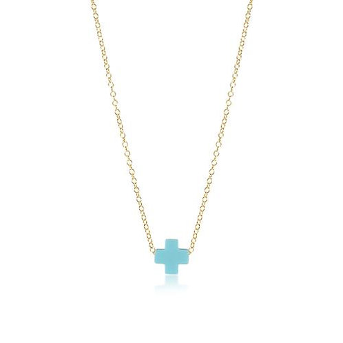 "enewton - 16"" Signature Cross Necklace TURQUOISE"