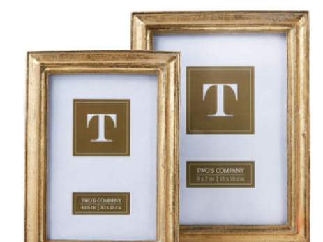 TWO'S COMPANY 5X7 CHATELET GOLD FRAME
