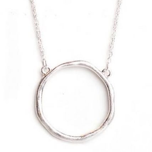 Meghan Browne ERIN Necklace in Silver