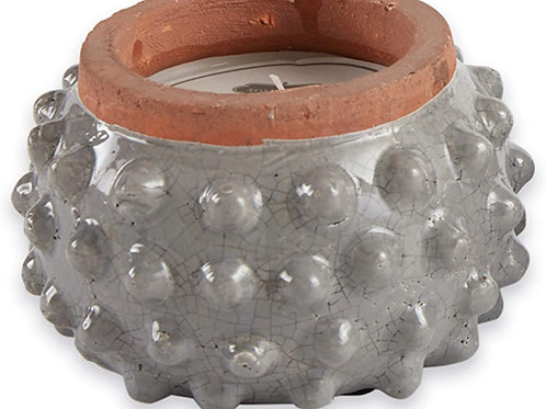 mudpie Mud Pie Gray Dotted Terracotta Candle