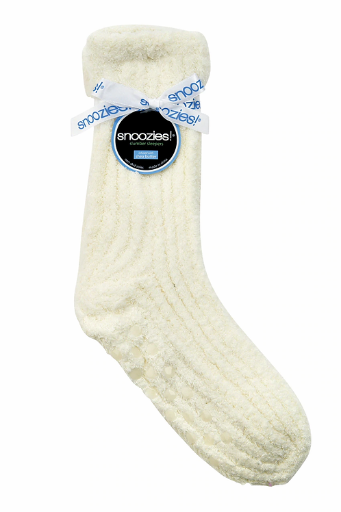 SNOOZIES Shea Butter Socks in CREAM