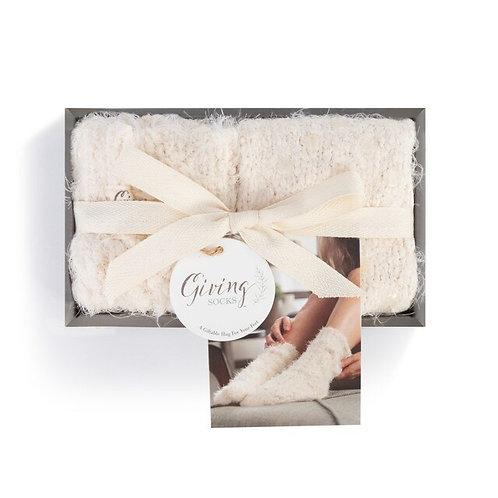 Women's Giving Socks in Cream