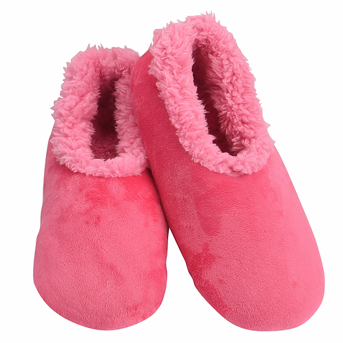 SNOOZIES Super Soft Plush Slippers in PINK