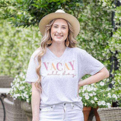 Vacay All Day V-Neck T-Shirt