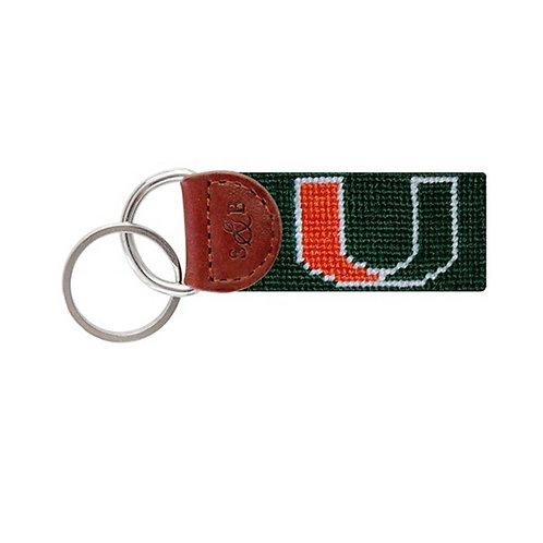 Smathers & Branson - University of Miami (FL) Needlepoint Key Fob