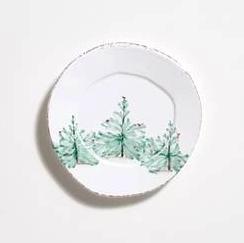 Vietri Lastra Holiday Dinner Plate