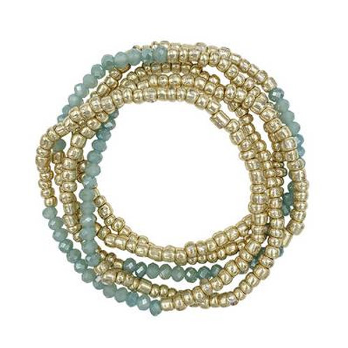 Meghan Browne  KEMPTON Beaded Bracelet in MINT