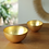 Thumbnail: BEATRIZ BALL NEW ORLEANS Glass Gold Foil Round Bowl Set