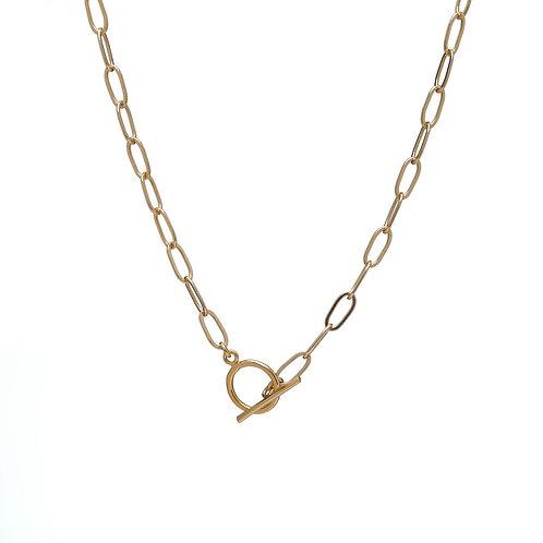 Kenda Kist GOLD Paper Clip Chain Toggle Necklace