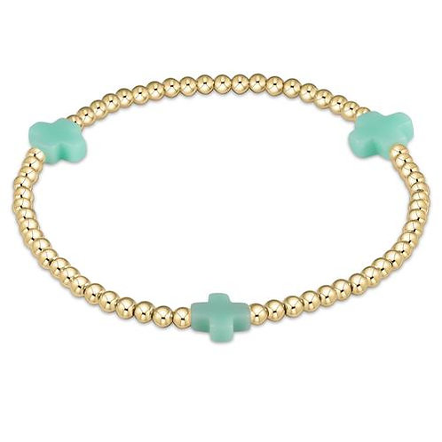 enewton - Signature Cross Bracelet in MINT