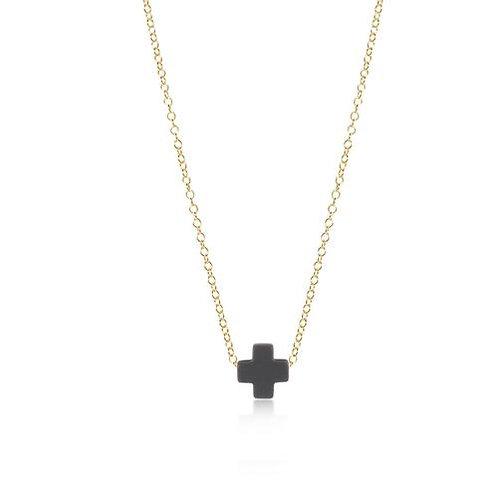 "enewton - 16"" Signature Cross Necklace CHARCOAL"
