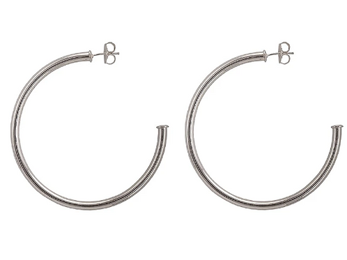 Sheila Fajl Everybody's Favorite Hoops in Brushed Silver