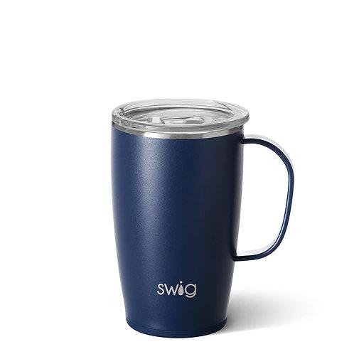 SWiG Matte Navy Blue Travel Mug (18oz)