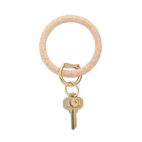 BIG - O Silicone Ring GOLD CONFETTI