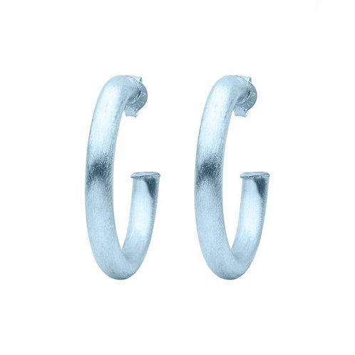Sheila Fajl Chantal Hoop Earrings in ICE