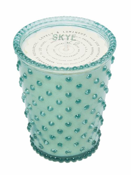 SIMPATICO NO. 79 SKYE HOBNAIL GLASS CANDLE