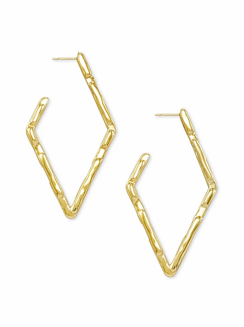 Kendra Scott Rylan Hoop Earrings In Gold