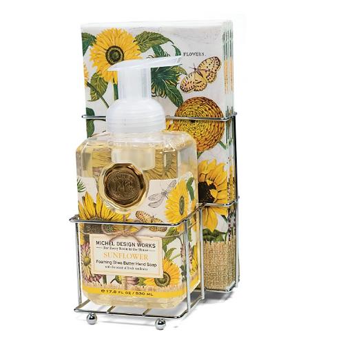 MICHEL DESIGN Sunflower Foaming Hand Soap Napkin Set