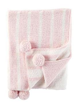 Mudpie Baby Color Block Blanket in Powdered Pink