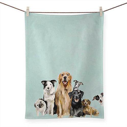 Green Box Art -Best Friends - Puppy Pack Tea Towel
