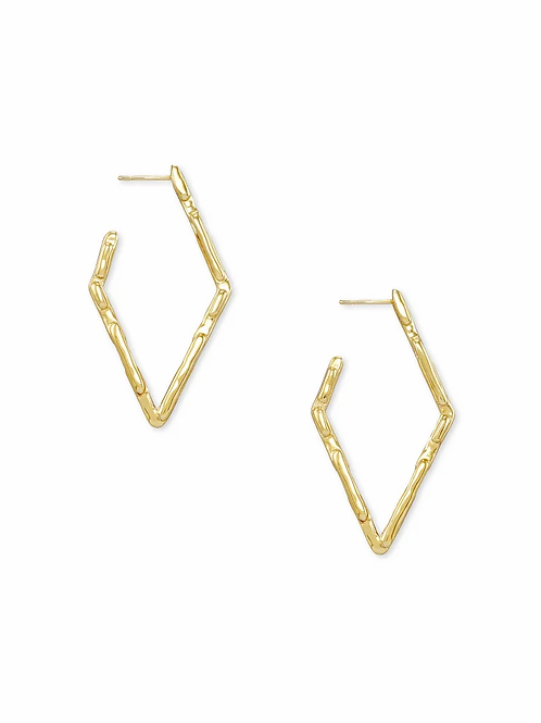 Kendra Scott Rylan Small Hoop Earrings In Gold