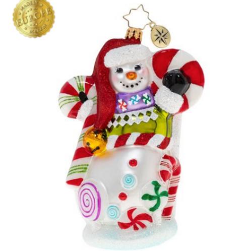 Radko Sweet Swirls Snowman Ornament