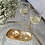 Thumbnail: BEATRIZ BALL NEW ORLEANS Glass Gold Foil Small Oval Platter with Mini Bowl