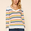 Thumbnail: SKIES ARE BLUE MULTI COLORED STRIPED SWEATER