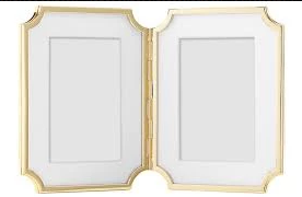 Kate Spade Sullivan St. Gold Hinged 4x6 Frames