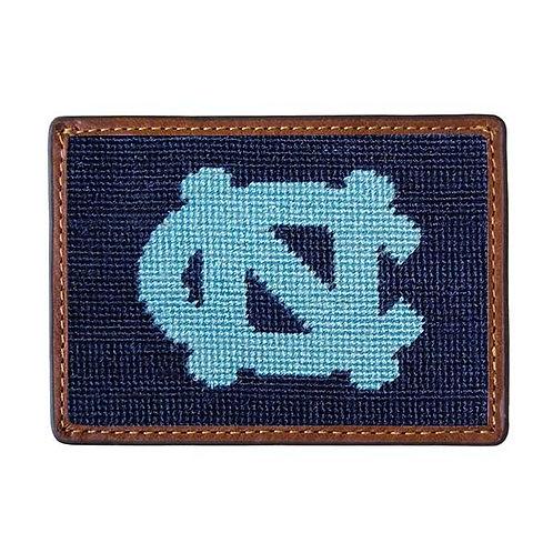Smathers & Branson - North Carolina (Dark Navy) Needlepoint Card Wallet