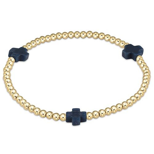 enewton - Signature Cross Bracelet in NAVY