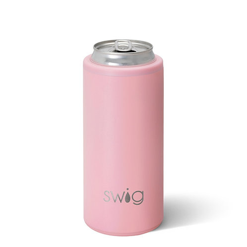 SWiG Matte Blush Skinny Can Cooler (12oz)