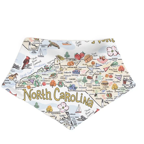Fish Kiss NORTH CAROLINA BABY BANDANA BIB
