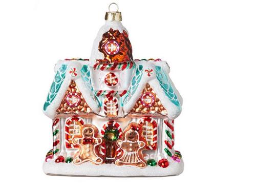 "RAZ Imports Kringle Candy Co. 5.25"" Gingerbread House Ornament"