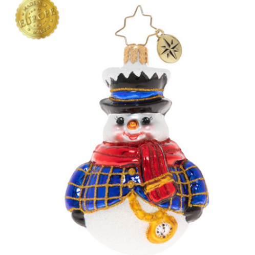 Radko Jolly All A-Round Snowman Gem Ornament