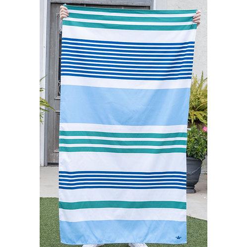 TRS - Paradise Stripe Beach Towel in Royal/Parakeet