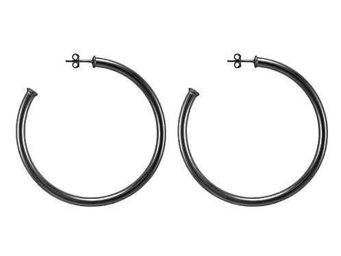 Sheila Fajl SMALL Everybody's Favorite Hoops in Gun Metal