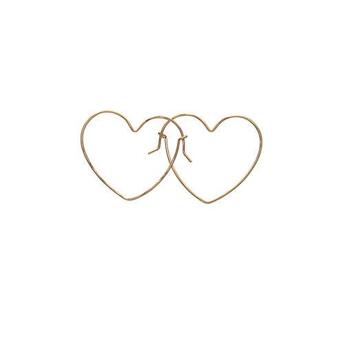 Kenda Kist GOLD Wire Heart Hoop Earrings