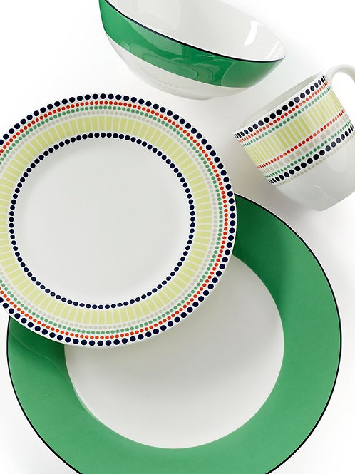 Kate Spade New York Hopscotch Drive GREEN 4 Piece Place Setting