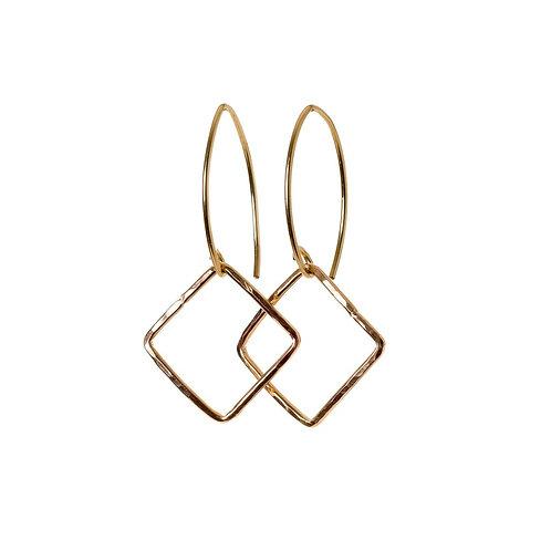 Kenda Kist GOLD Small Square Earrings