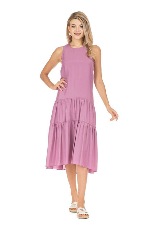 joy joy Tiered Midi Dress
