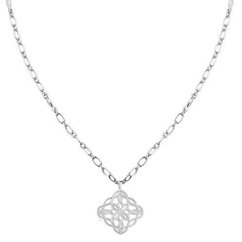Natalie Wood Designs - Bloom Drop Necklace SILVER