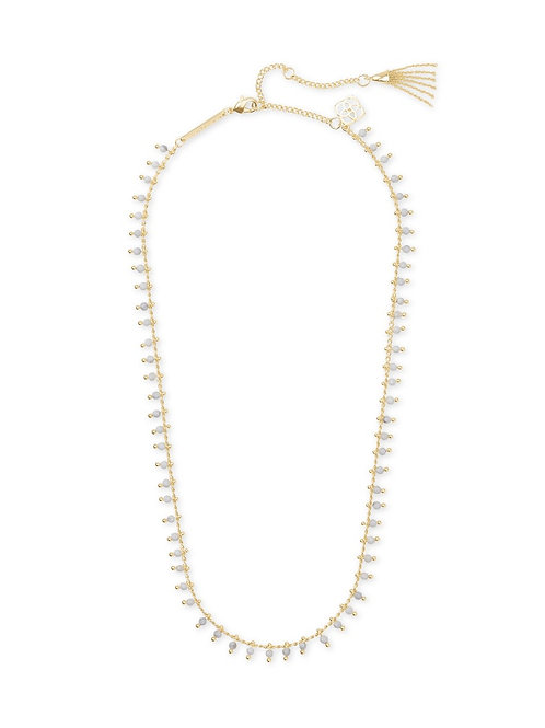 Kendra Scott Jenna Gold Choker Necklace In White Howlite